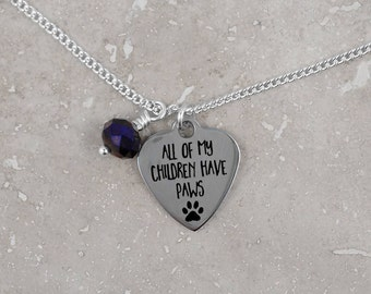 PET LOVER - Gift for pet owner, pet paw, dog lover, cat lover, animal rescue, pet person, keepsake gift, necklace, under 20, gift wrap