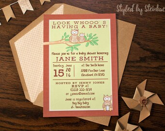 Owl Baby Shower Invitation - PRINTABLE