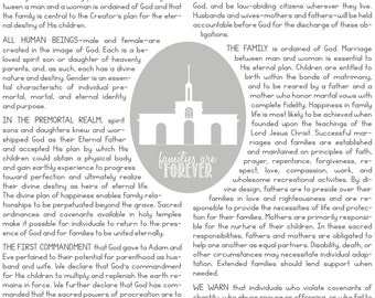 Personalized Family Proclamation Printable