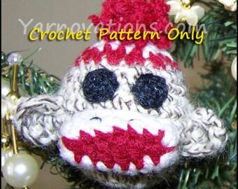 Sock Monkey & Friends Christmas Ball Christmas Ornaments - Crochet Pattern