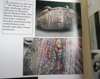 SALE!!! Texture with Textiles Linda McGehee 1991  booklet Crinkling, Couching, Beading, Pintucking