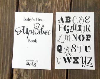 Alphabet book etsy instant download diy vintage alphabet book baby shower activity game do it yourself solutioingenieria Images