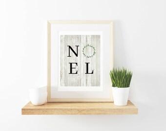 "Rustic Farmhouse Style ""NOEL"" Printable"