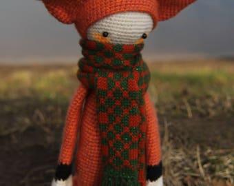 Red fox amigurumi Crochet doll Crochet animals Stuffed Crochet Fox plush Soft doll Children Gift Handmade doll nursery baby Fox doll toy