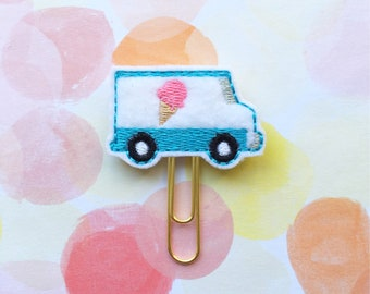 Planner Clips, Ice Cream Truck, Planner Accessory