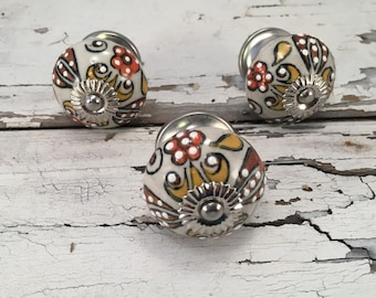 Tomato Knobs, Decorative Pull Knob, Craft Supply, Furniture Upgrade Ceramic Drawer Pulls, Home Improvement Cabinet Supplies