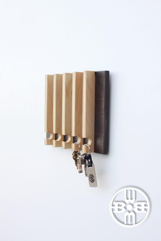 Long Foyer Key : Modern key rack entryway wall storage gift for men