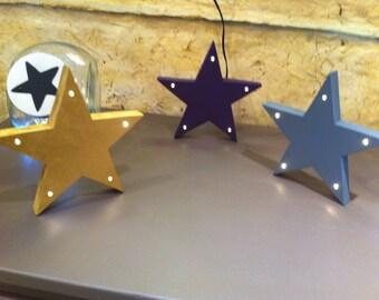 Décoration lumineuse à LED- étoile - star light - ange - angel light