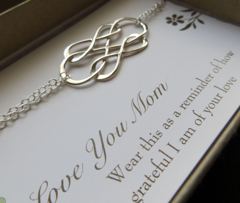 mother of the bride bracelet gift, interlocked infinity bracelet ...