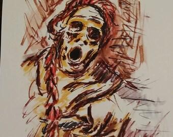 Cholera -- Watercolor Zombie