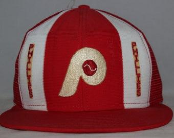 Vintage Philadelphia Phillies Lucky Stripes MLB Snapback Hat