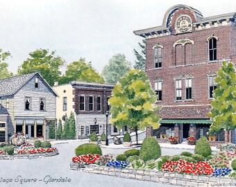 Glendale Square in Glendale, Ohio