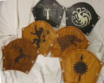 Game of Thrones Burned Leather Bracers