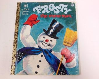 Vintage Frosty the Snowman Little Golden Book Winter Holiday Snowman Children's Reading