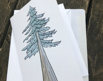 Coast Redwood Note Card with Envelope
