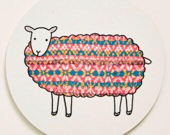 Sheep Coaster - Red