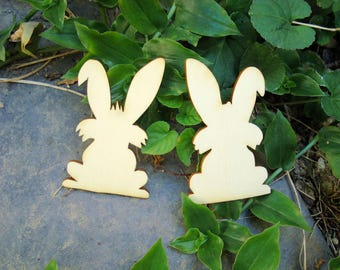 2 little bunny 1191 embellishment wooden creations