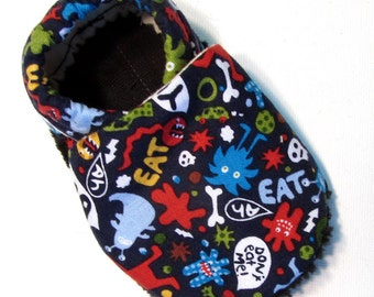 Little Monsters Soft Soled Baby Shoes 0-6 mo