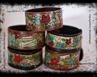 made to order leather cuff