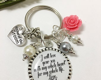 Mother of the Groom Wedding Gift Mother in Law Wedding Gift Mother of the Groom Keychain
