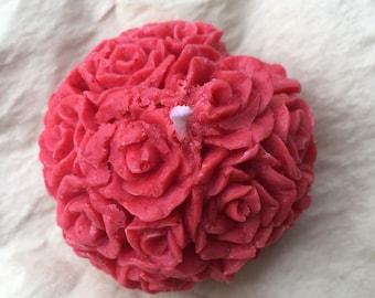 Red Rosedrop Madeleine Votive (unscented)