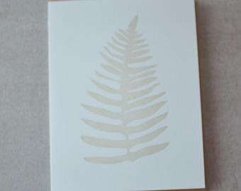 Fern letterpress card