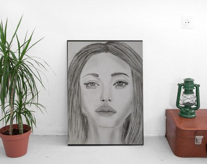 Paper Print Angelina Jolie Sketch