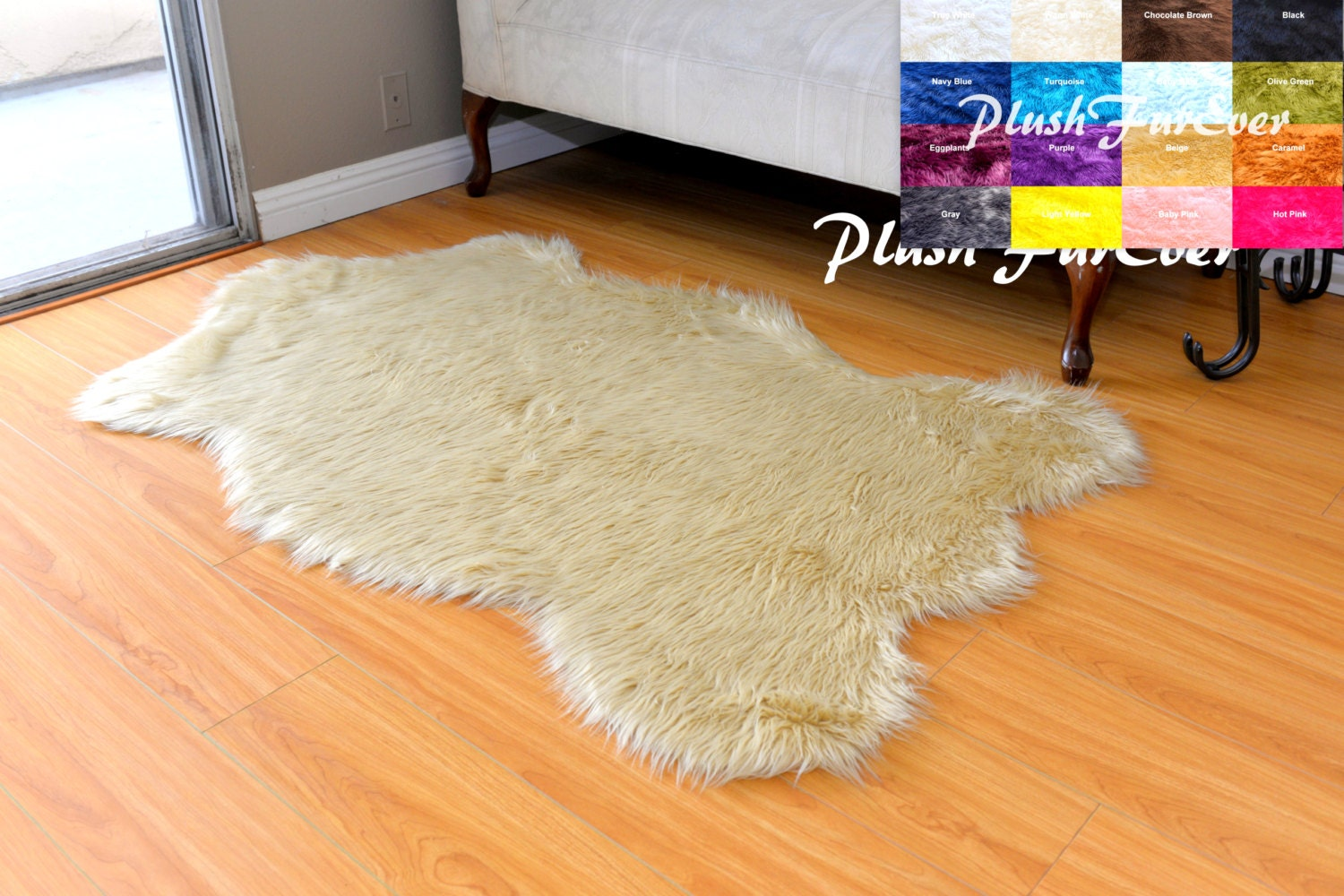 Grey Tan And Brown Area Rug: Nursery Faux Fur Decors Area Rug Sheepskin White Brown