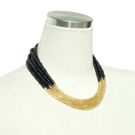Boho Chic Necklace - Black