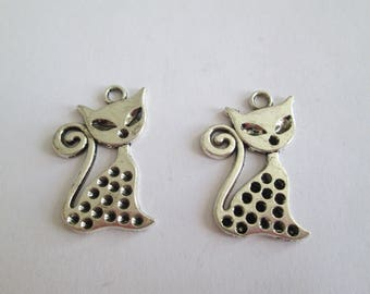 SILVER CAT CHARM