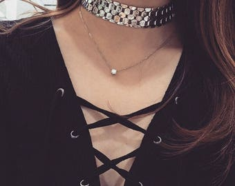 adjustable gold necklace choker silver necklace choker latest trend necklace choker