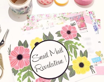 Snail mail revolution postcards set of 6