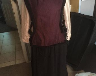 Medieval Surcoat, Renaissance, Faux fur, dress-Anita