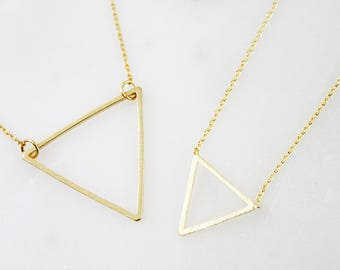 Triangle Necklace Gold Triangle Pendant Necklace