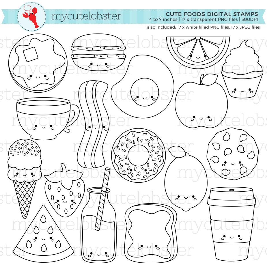 Süße Lebensmittel digitale Briefmarken Gliederung