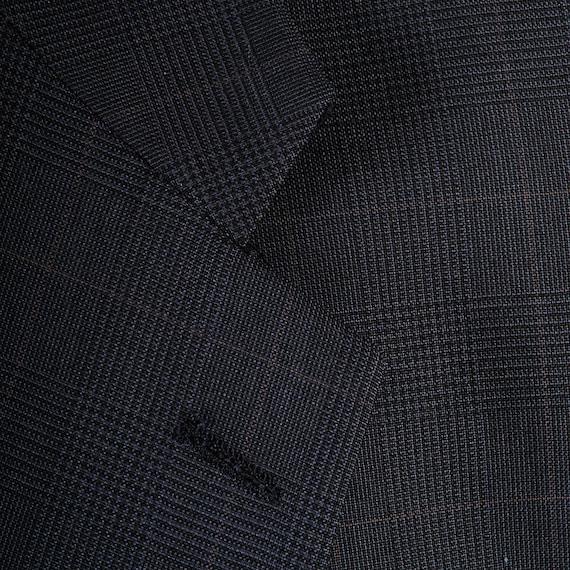 Blue Mens Vintage Jacket 80s Burberry Burberrys 40R Prorsum Navy Designer Sportcoat Plaid 40 dYfpqfwS