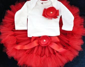 Red Tutu | Christmas Tutu | Baby Girls Red Dress | Ruby Red Dress | Christmas Gifts for Baby Girls | 1st Christmas Dress | Red Tutu