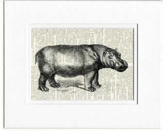 hippo, princess hippo print