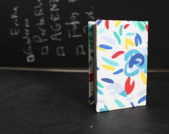 Floral pattern mini hardcover journal