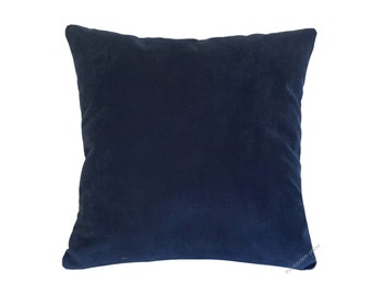 Navy Blue Velvet Suede Decorative Throw Pillow Cover / Pillow Case / Cushion Cover / 20x20""