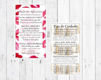 Spanish How To Apply/ Tips and Tricks LipSense by SeneGence Cards