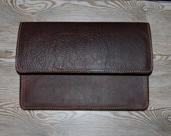 9.7 Inch iPad Pro Leather Case, Oil Tanned Leather iPad Pro Case w/Smart Keyboard Case, Apple Pencil Slot, iPad Pro Case, iPad Pro