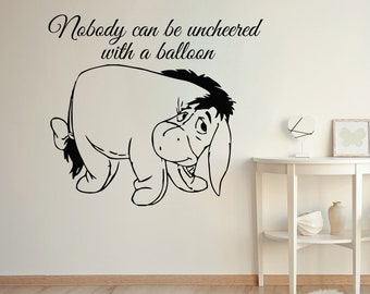 Winnie the Pooh Wall Nursery Decor Art Quote Baby Room Vinyl Sticker Home Decor Mural Eeyore Murals MS323