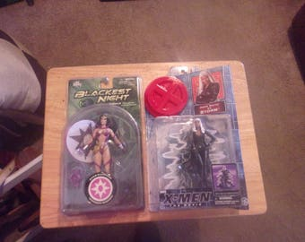 Two Women Figures Blackest Night Wonder Woman & X-men Strom NEW