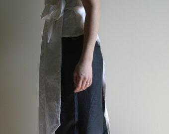 Linen Wrap Dress Blouse by NervousWardrobe on Etsy