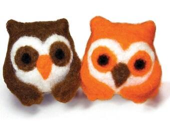 Owls Feltworks Ball Learn Needle Felting Kit