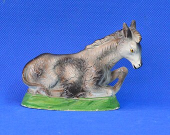 Vintage Papier Mache Large Nativity Donkey - Made in Italy - Christmas Decor