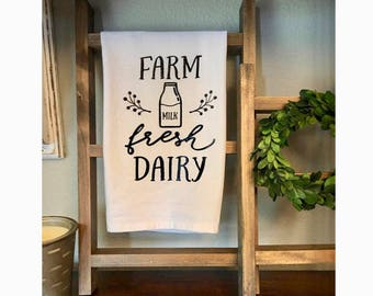 Tea Towel- Farm fresh dairy