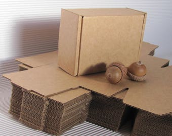 """1.5""""x4""""x2.5"""" Blank Boxes; Set of 20 Cardboard Boxes. Gift Packaging Boxes; Brown Kraft Card Boxes for DIY projects; Small Packaging Boxes"""