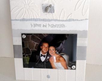 WEDDING FRAME, Personalized engagement frame,  photo frame for 4x6, wedding gift, wedding shower gift, engagement gift, unique photo frame.